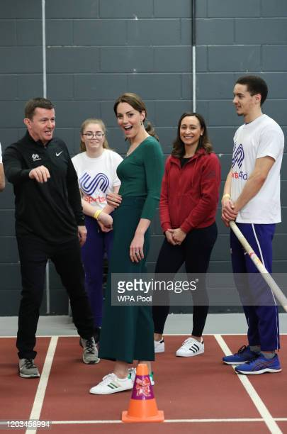 Catherine, Duchess of Cambridge during a SportsAid Stars event at the London Stadium in Stratford on February 26, 2020 in London, England.