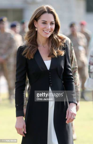 Catherine Duchess of Cambridge during a visit to an Army Canine Centre where the UK provides support to a programme that trains dogs to identify...