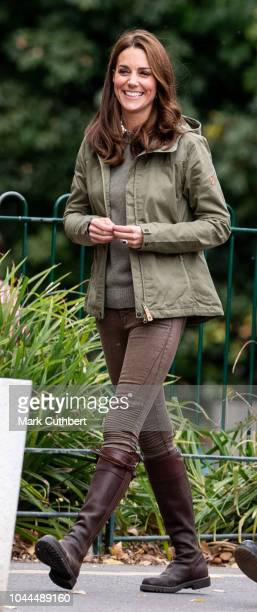 Catherine Duchess of Cambridge during a visit to Sayers Croft Forest School and Wildlife Garden on October 2 2018 in London England Sayers Croft is...
