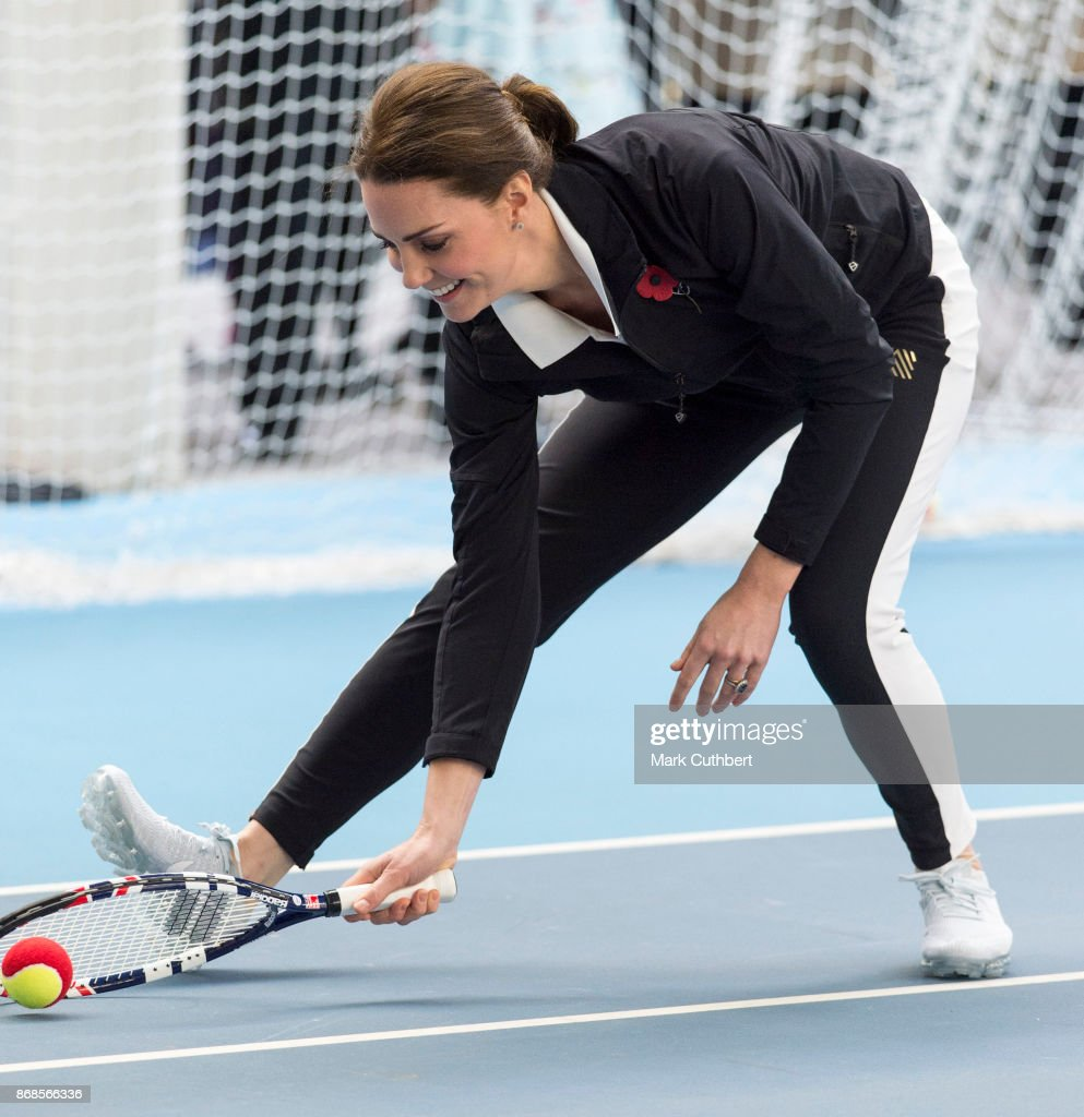 Catherine, Duchess of Cambridge during a visit to the Lawn Tennis Association at National Tennis Centre on October 31, 2017 in London, England. The Duchess of Cambridge became Patron of the LTA in December 2016.