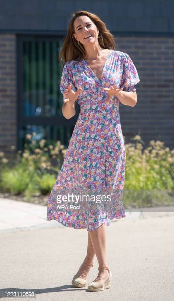 Catherine Duchess of Cambridge during a visit to The Nook in Framlingham Earl Norfolk which is one of the three East Anglia's Children's Hospices on...