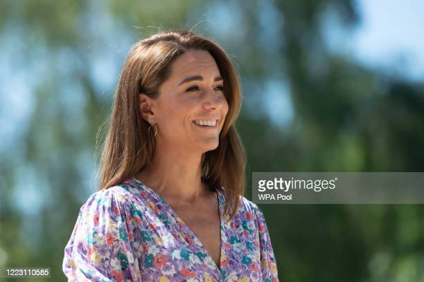 KINGDOM JUNE Catherine Duchess of Cambridge during a visit to The Nook in Framlingham Earl Norfolk which is one of the three East Anglia's Children's...