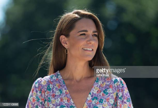 Catherine, Duchess of Cambridge during a visit to The Nook in Framlingham Earl, Norfolk, which is one of the three East Anglia's Children's Hospices...