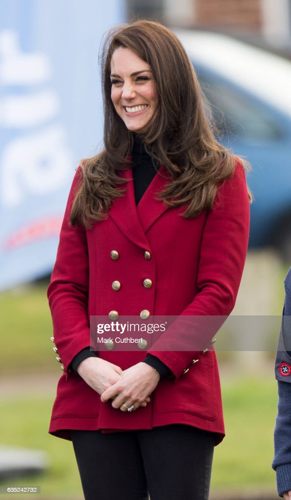 Catherine, Duchess of Cambridge during a visit to the RAF Air Cadets at RAF Wittering on February 14, 2017 in Stamford, England. The Duchess of Cambridge is Royal Patron and Honorary Air Commandant of the Air Cadet Organisation.