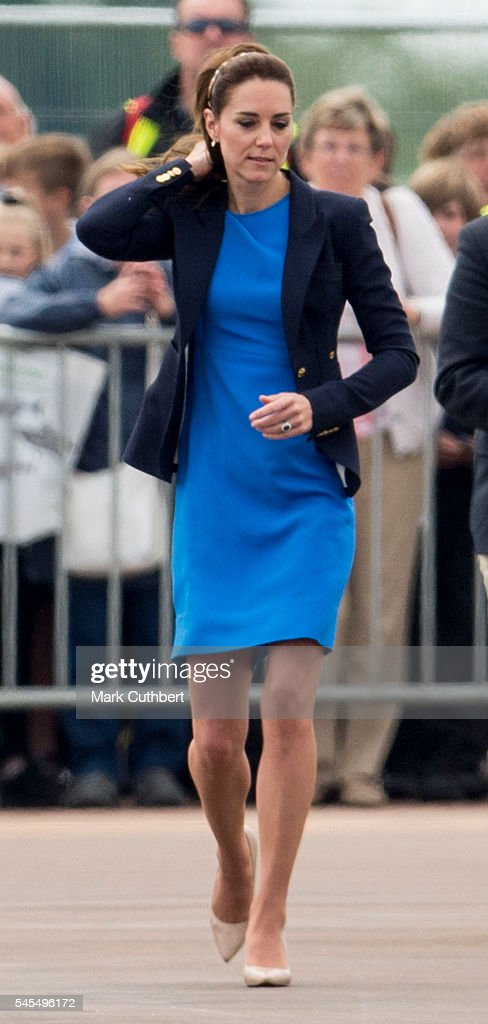 The Duke & Duchess Of Cambridge Visit The Royal International Air Tattoo : News Photo