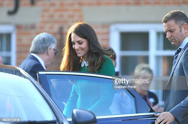 Catherine Duchess of Cambridge during an official visit to receive an update on The Nook Appeal at EACH on January 24 2017 in Quidenham Norfolk HRH...