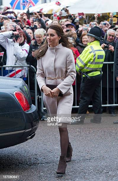 Catherine Duchess of Cambridge during an official visit to the Guildhall on November 28 2012 in Cambridge England