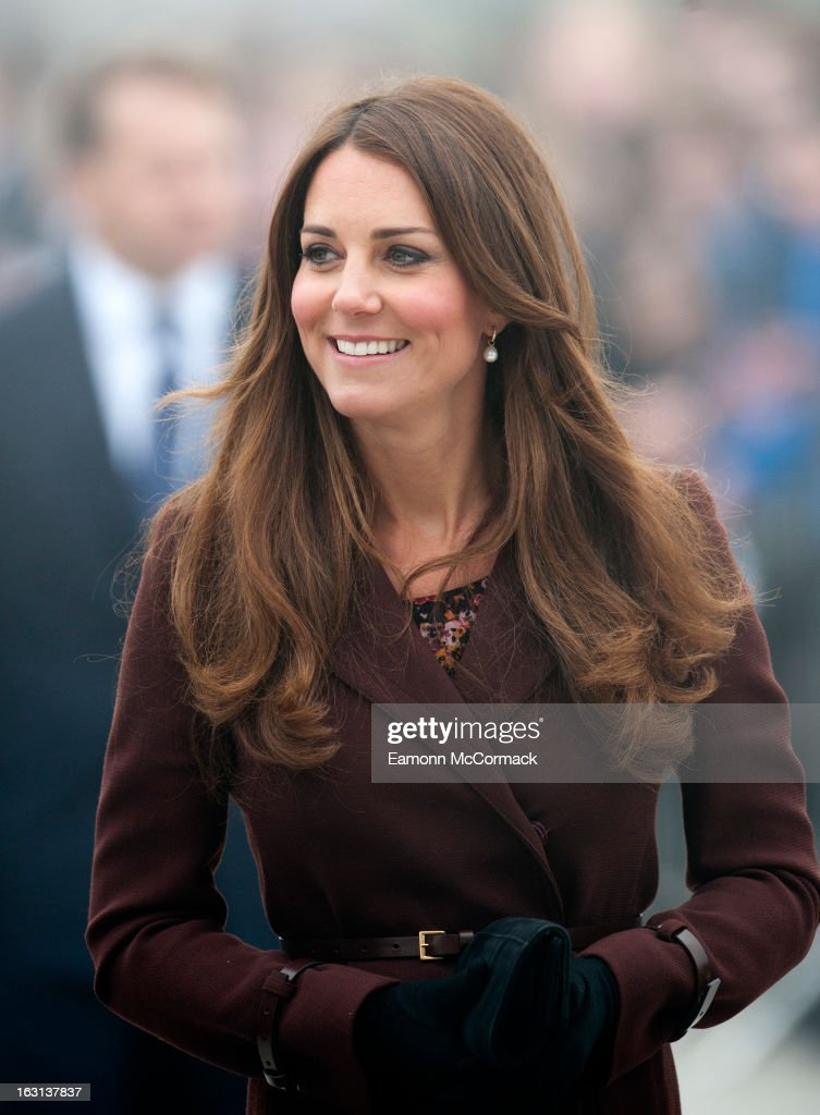 Catherine Duchess of Cambridge during her official visit to Grimsby on March 5, 2013 in Grimsby, England.