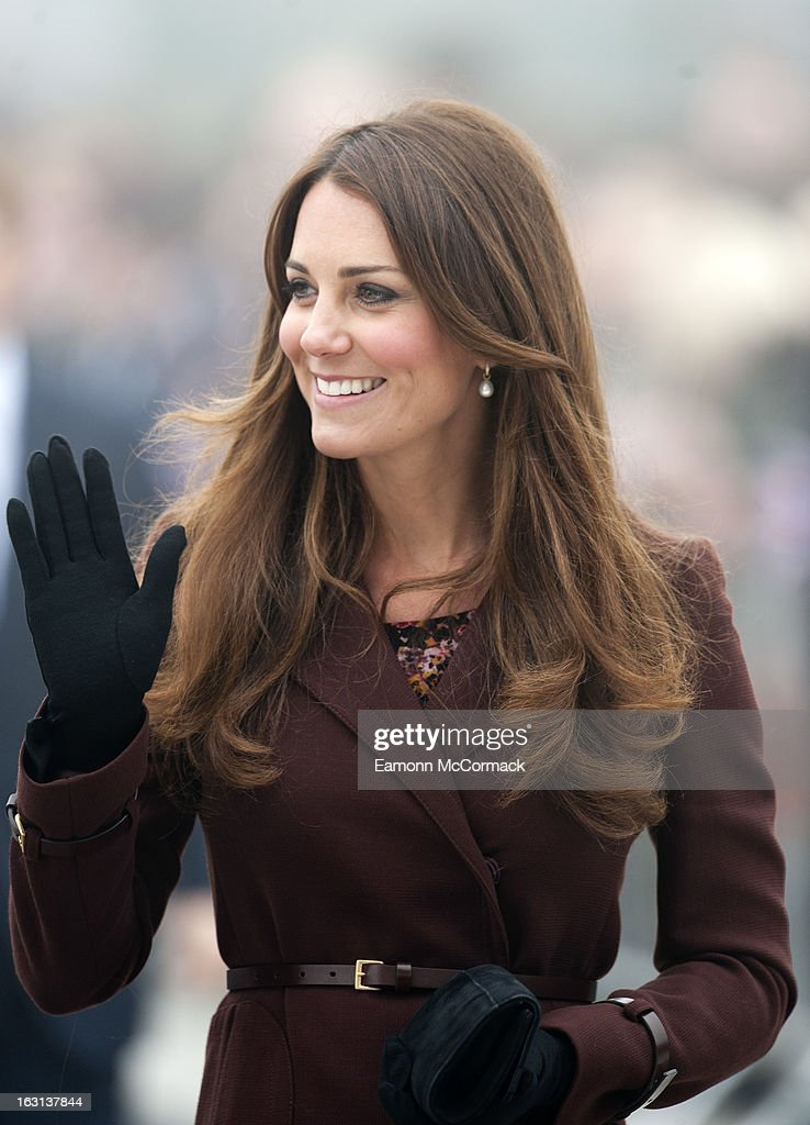 The Duchess Of Cambridge Makes An Official Visit To Grimsby : News Photo