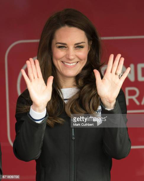 Catherine Duchess of Cambridge during the 2017 Virgin Money London Marathon on April 23 2017 in London England