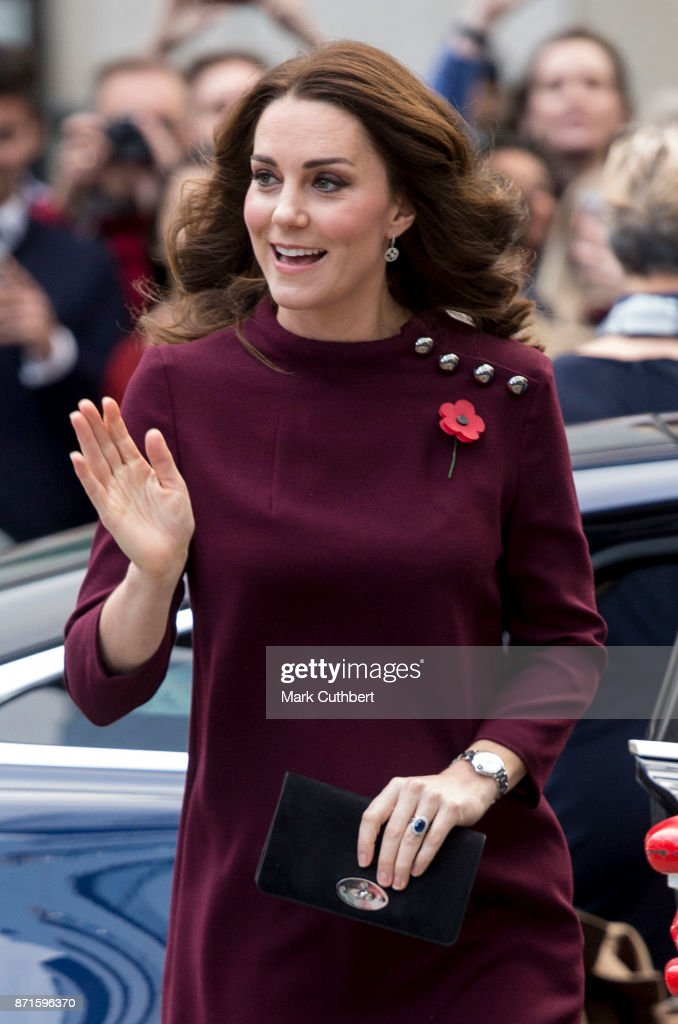 Catherine, Duchess of Cambridge during the annual Place2Be School Leaders Forum at UBS London on November 8, 2017 in London, England. The Duchess of Cambridge is Patron of Place2Be, a National Children's mental health charity.