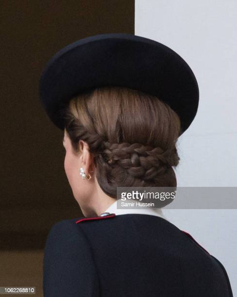 Catherine Duchess of Cambridge during the annual Remembrance Sunday memorial on November 11, 2018 in London, England.