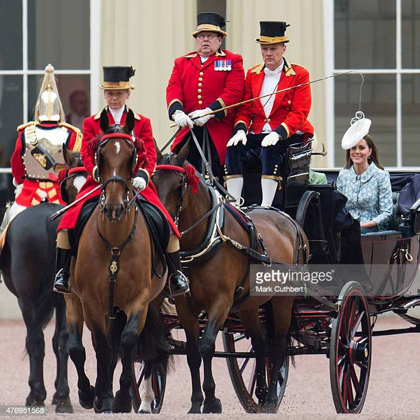 Catherine, Duchess of Cambridge during the annual Trooping The Colour ceremony at Buckingham Palace on June 13, 2015 in London, England.