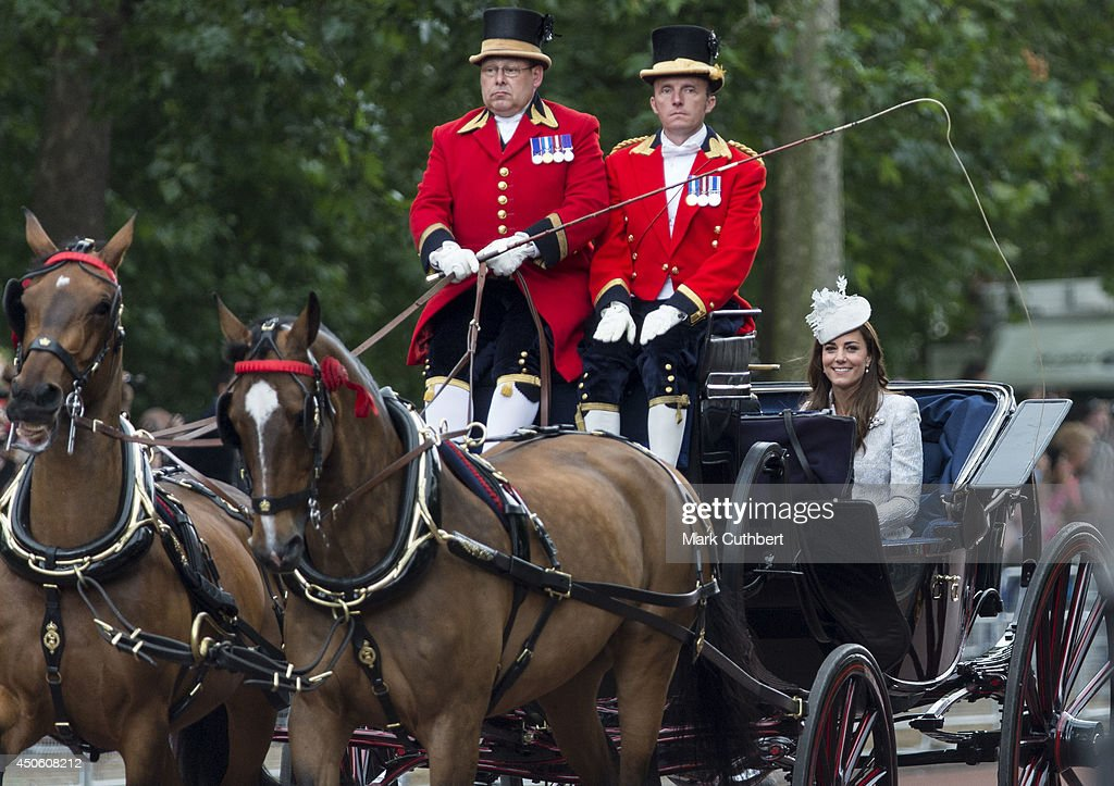 Catherine, Duchess of Cambridge during Trooping the Colour at The Royal Horseguards on June 14, 2014 in London, England.