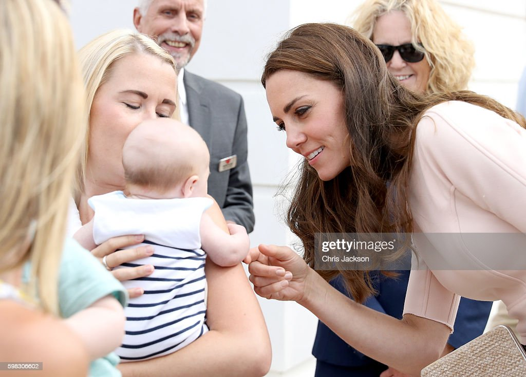 The Duke & Duchess Of Cambridge Visit Cornwall : News Photo