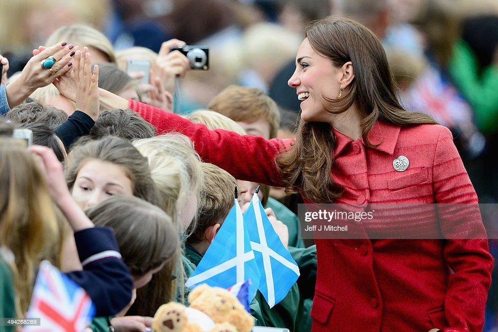 Duke and Duchess Of Cambridge Visit Scotland : News Photo