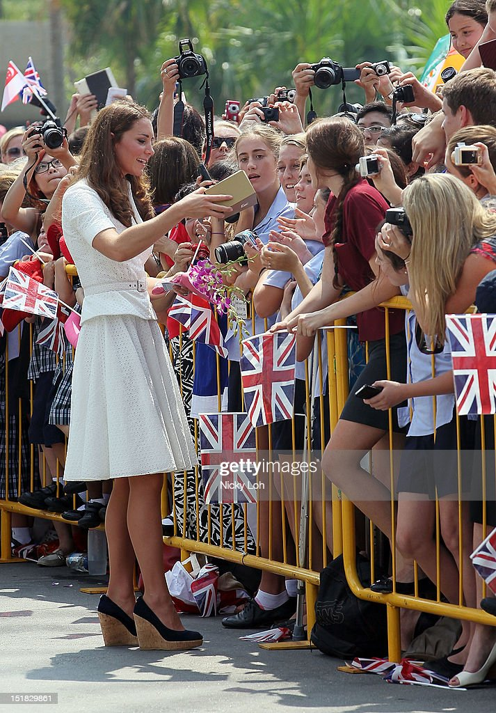The Duke And Duchess Of Cambridge Diamond Jubilee Tour - Day 2 : ニュース写真