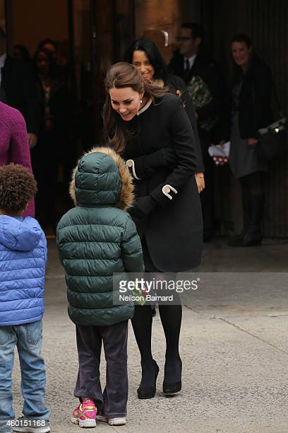Catherine Duchess of Cambridge greets guests at Northside Center for Child Development during her official twoday visit to the United States on...
