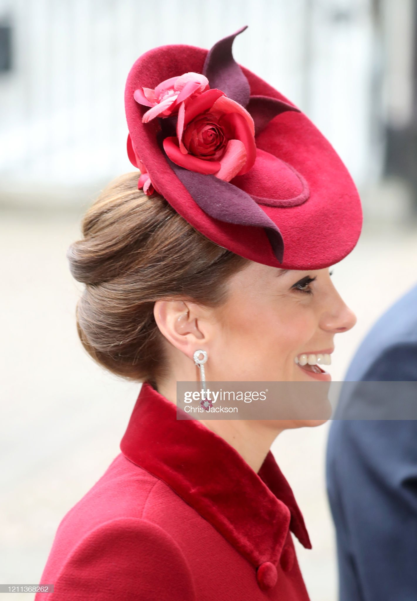 https://media.gettyimages.com/photos/catherine-duchess-of-cambridge-hat-detail-attend-the-commonwealth-day-picture-id1211368262?s=2048x2048