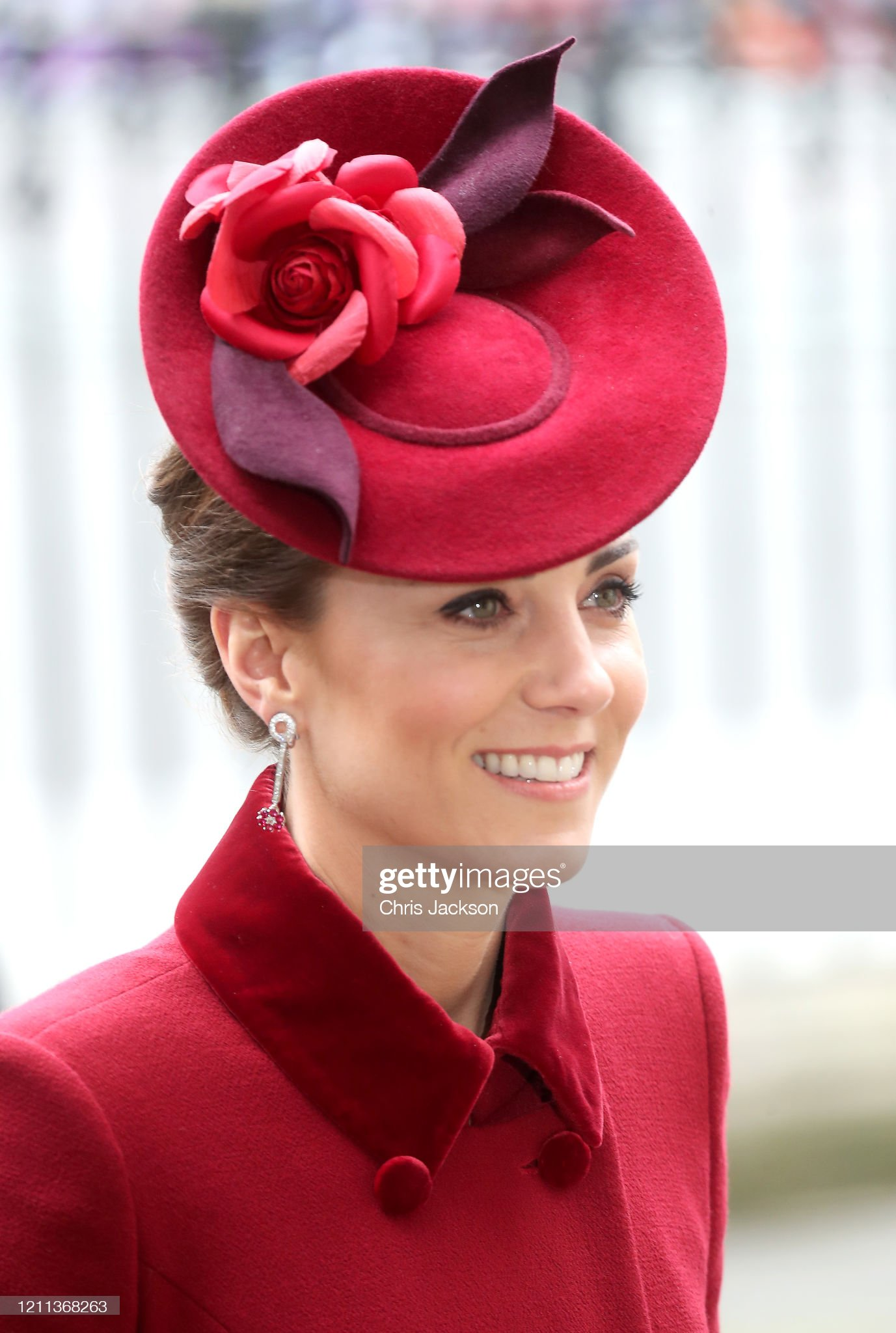 https://media.gettyimages.com/photos/catherine-duchess-of-cambridge-hat-detail-attend-the-commonwealth-day-picture-id1211368263?s=2048x2048