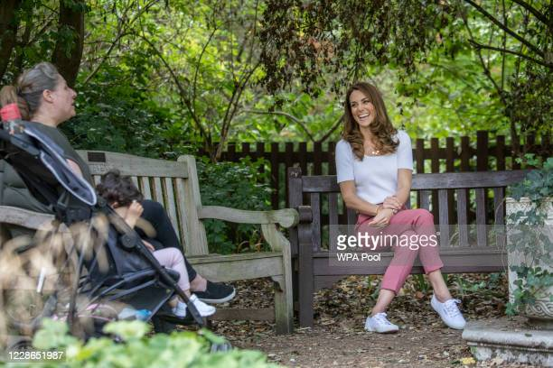 Catherine Duchess of Cambridge hears from families and key organisations about the ways in which peer support can help boost parent wellbeing while...