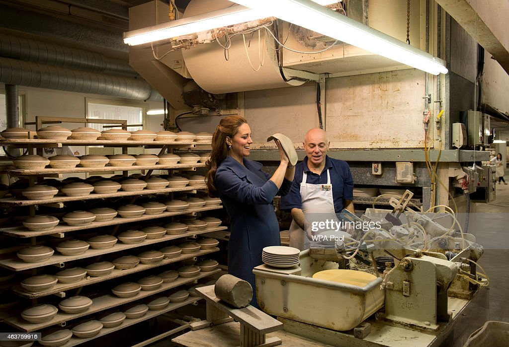 Catherine, Duchess of Cambridge Visits Emma Bridgewater Factory : News Photo