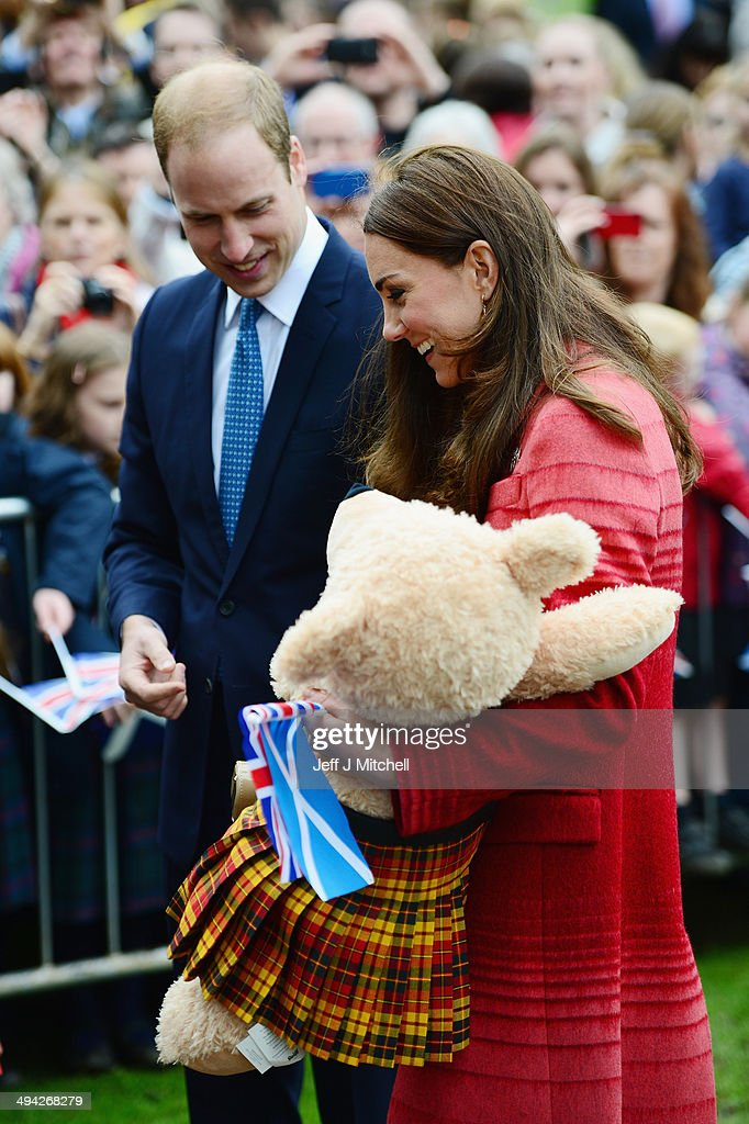 Duke and Duchess Of Cambridge Visit Scotland : News Photo
