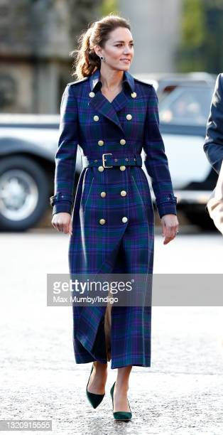 Catherine, Duchess of Cambridge hosts a drive-in cinema screening of Disney's 'Cruella' for Scottish NHS workers at The Palace of Holyroodhouse on...