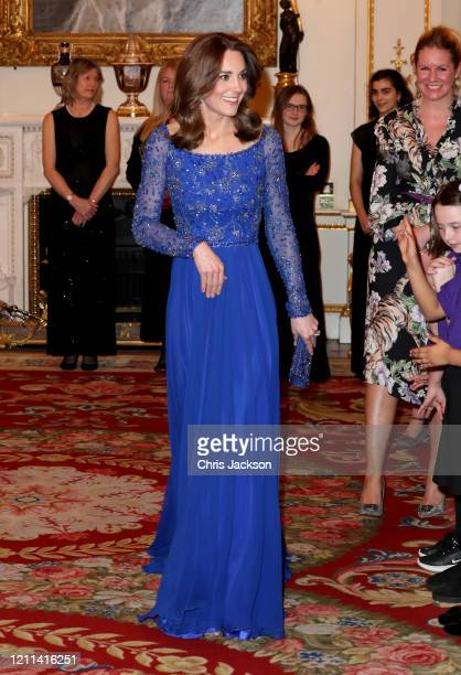 Catherine, Duchess of Cambridge hosts a Gala Dinner in celebration of the 25th anniversary of Place2Be at Buckingham Palace on March 09, 2020 in...