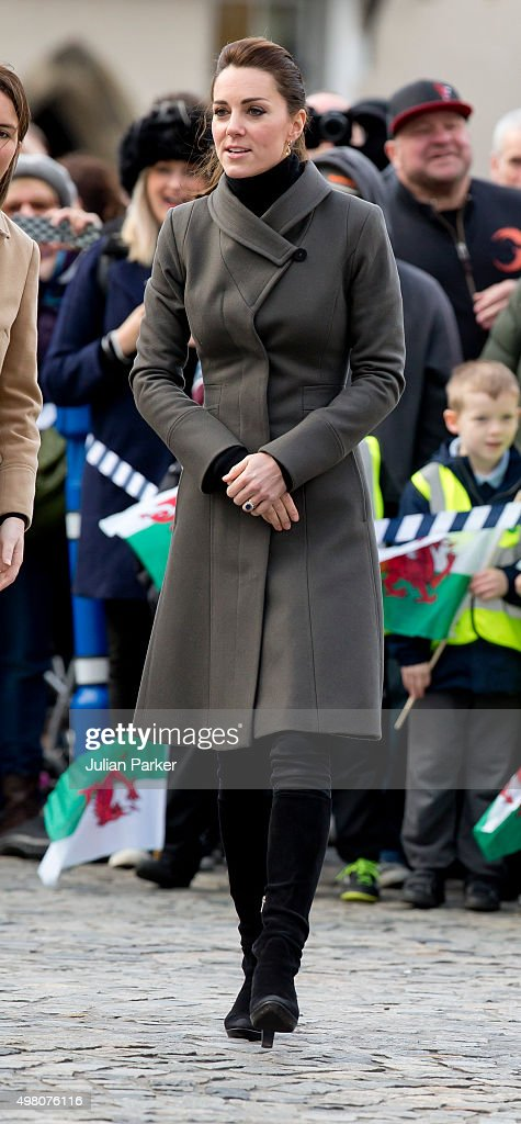 The Duke and Duchess of Cambridge visit North Wales : News Photo