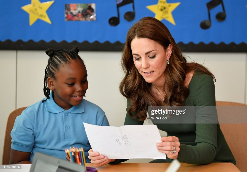 The Duchess Of Cambridge Opens Anna Freud Centre Of Excellence : News Photo