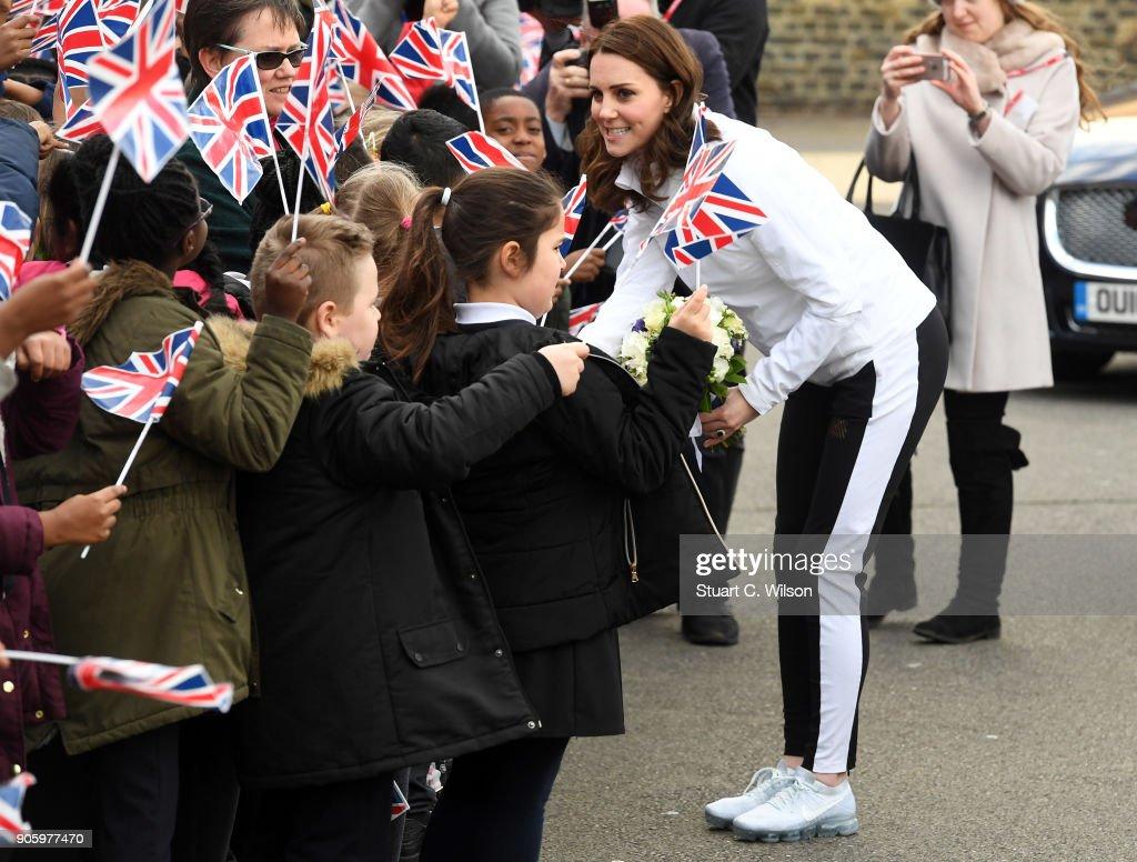 The Duchess of Cambridge Visits The Wimbledon Junior Tennis Initiative