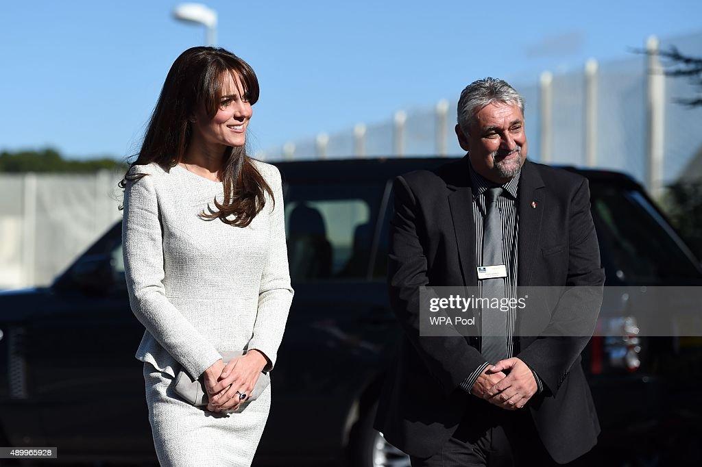 Duchess Of Cambridge Visits Rehabilitation Of Addicted Prisoners Trust At HMP Send : News Photo