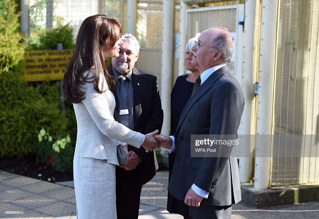 Duchess Of Cambridge Visits Rehabilitation Of Addicted Prisoners Trust At HMP Send : News Photo