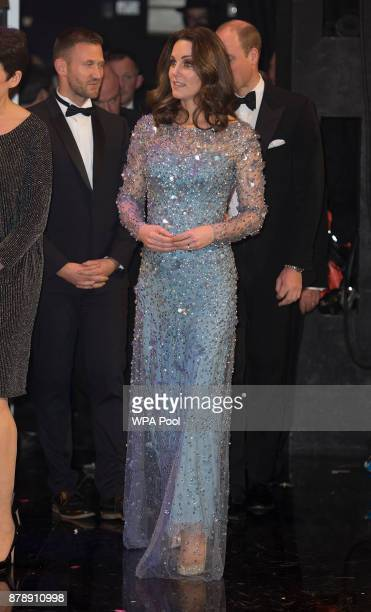 Catherine Duchess of Cambridge is seen backstage at the Royal Variety Performance at the Palladium Theatre on November November 24 2017 in London...