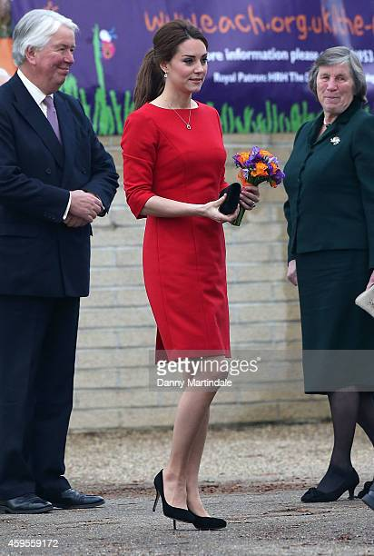 Catherine, Duchess of Cambridge is seen leaving the Norfolk Showground after attending East Anglia's Children's Hospices Appeal launch on November...