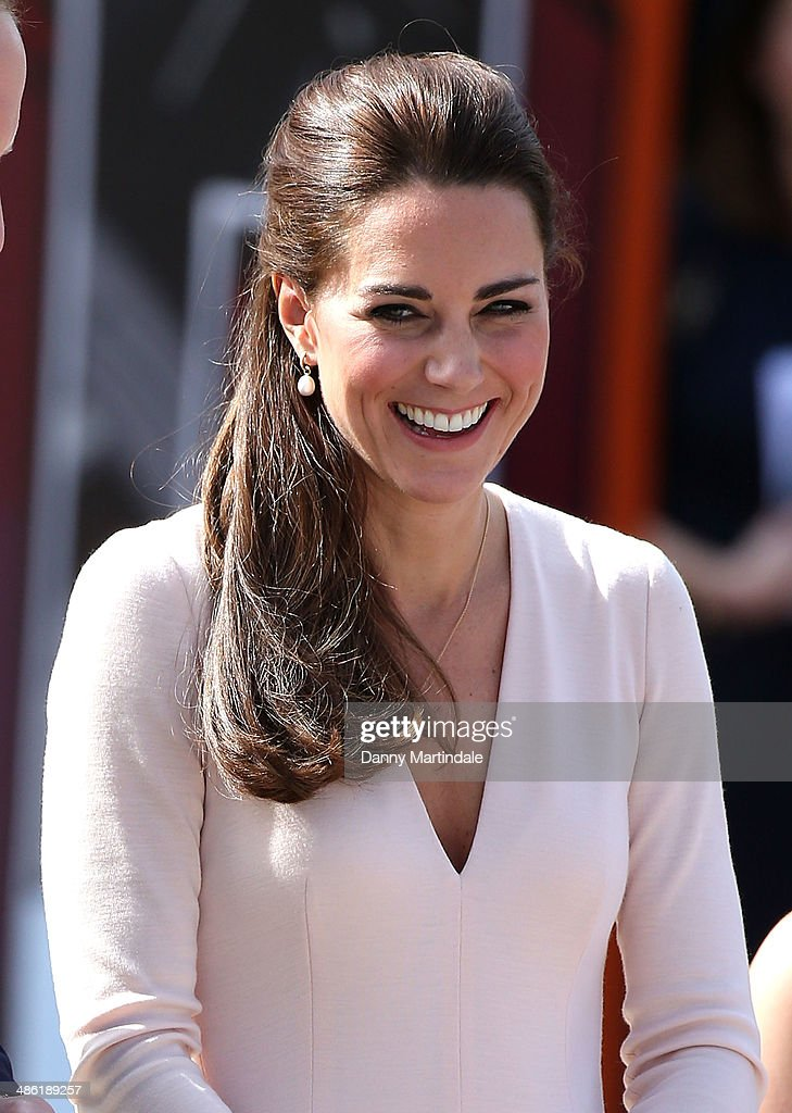 Catherine, Duchess of Cambridge is seen visiting a skate park in Elizabeth on April 23, 2014 in Adelaide, Australia. The Duke and Duchess of Cambridge are on a three-week tour of Australia and New Zealand, the first official trip overseas with their son, Prince George of Cambridge.