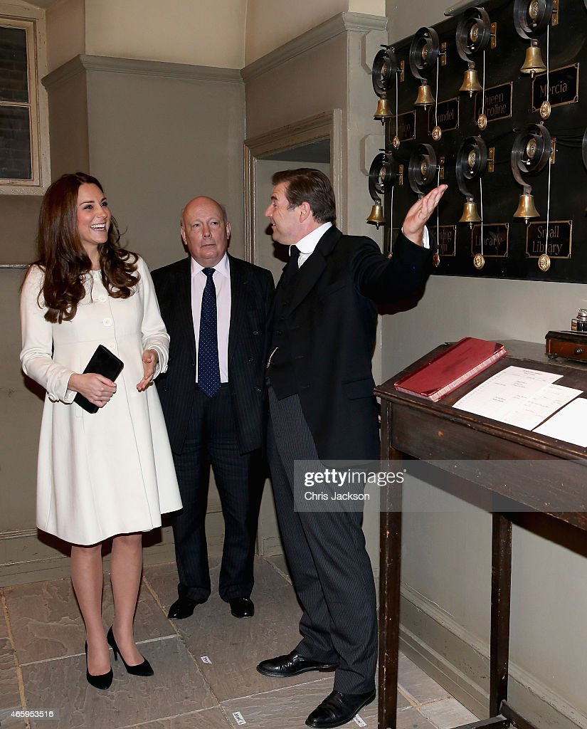 The Duchess Of Cambridge Visits The Set Of Downton Abbey At Ealing Studios : News Photo