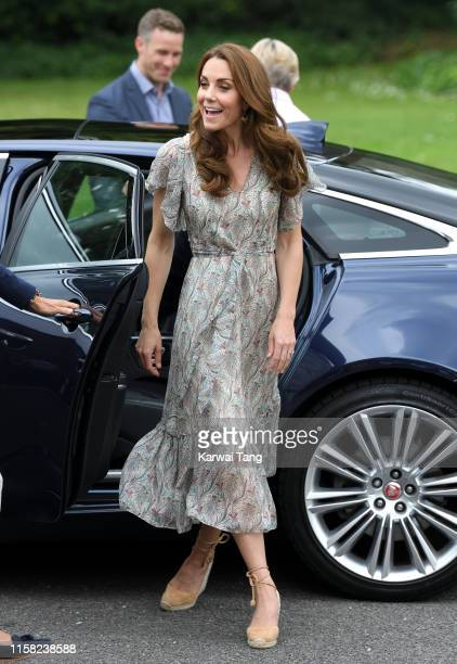 Catherine Duchess of Cambridge joins a photography workshop for Action for Children run by the Royal Photographic Society at Warren Park Children's...