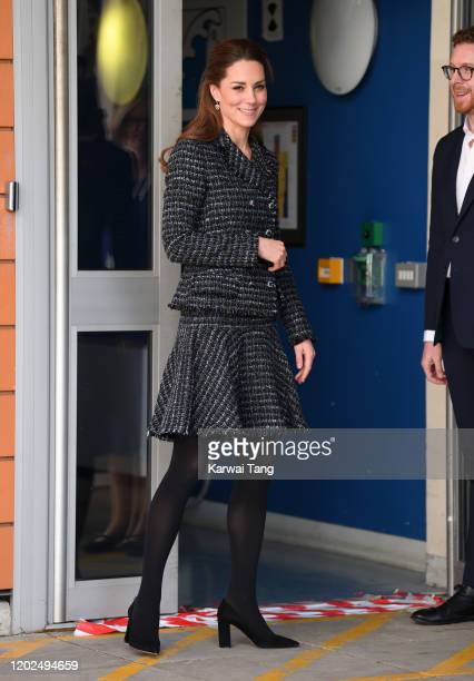 Catherine Duchess of Cambridge joins a workshop run by the National Portrait Gallery's Hospital Programme at Evelina Children's Hospital on January...