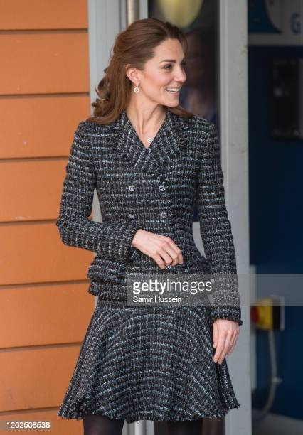Catherine, Duchess of Cambridge joins a workshop run by the National Portrait Gallery's Hospital Programme at Evelina Children's Hospital on January...