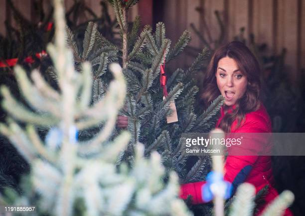 Catherine Duchess of Cambridge joins families and children who are supported by the charity Family Action at Peterley Manor Farm on December 04 2019...
