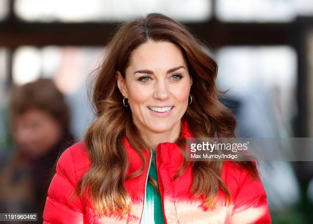 Catherine, Duchess of Cambridge joins families and children who are supported by the charity Family Action at Peterley Manor Farm on December 4, 2019...