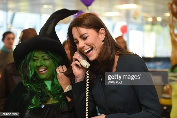 Catherine, Duchess of Cambridge joins ICAP's brokers in its London office to speak to customers to close deals and help boost trading volumes as she...