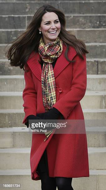 Catherine Duchess of Cambridge known as the Countess of Strathearn when in Scotland during a visit to Dumfries House on March 05 2013 in Ayrshire...