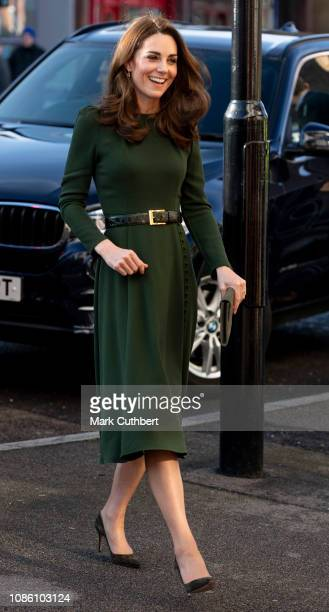 Catherine Duchess of Cambridge launches a new national support line at the charity Family Action on January 22 2019 in Lewisham England