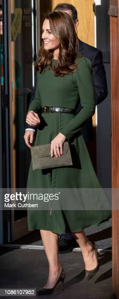 Catherine Duchess of Cambridge launches a new national support line at Family Action on January 22 2019 in Lewisham England