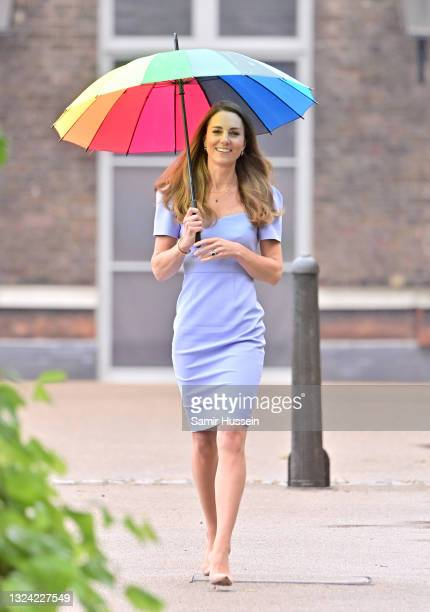 Catherine, Duchess of Cambridge launches her own Centre for Early Childhood to raise awareness of the importance of early years on June 18, 2021 in...