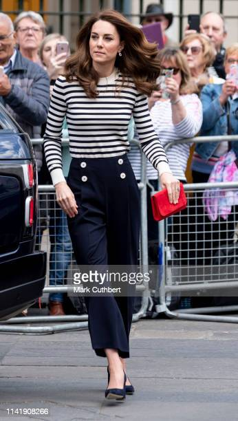 Catherine, Duchess of Cambridge launches the King's Cup Regatta at Cutty Sark, Greenwich on May 7, 2019 in London, England.
