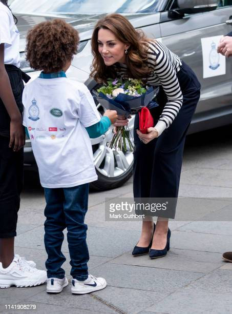 Catherine Duchess of Cambridge launches the King's Cup Regatta at Cutty Sark Greenwich on May 7 2019 in London England
